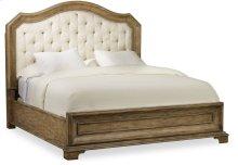 Solana California King Upholstered Panel Bed