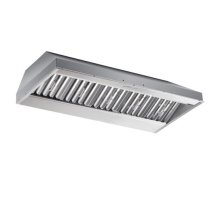 """48"""" x 22.5"""" depth Stainless Steel Built-In Range Hood with iQ12 Blower System, 1200 CFM"""