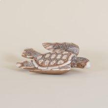Wooden Sea Turtle Swimming