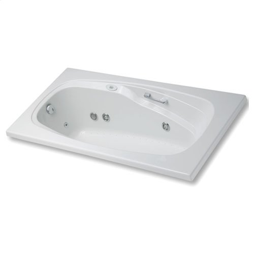 "Easy-Clean High Gloss Acrylic Surface, Rectangular, Whirlpool Bathtub, Standard Package, 42"" X 72"""