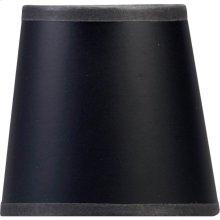 Visual Comfort CHS104B E. F. Chapman Clip On Black 4 inch Shade in Black Paper