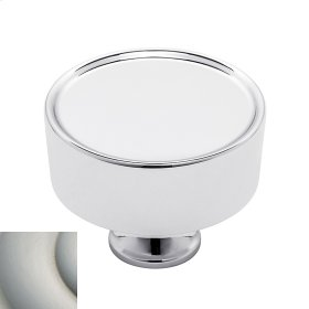 Satin Nickel with Lifetime Finish Hollywood Hills Cabinet Knob