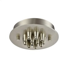 Pendant Options 12 Light Small Round Canopy in Satin Nickel