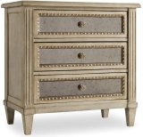 Sanctuary Three Drawer Nightstand-Pearl Essence Product Image