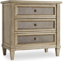 Sanctuary Three Drawer Nightstand-Pearl Essence