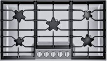 36-Inch Masterpiece® Pedestal Star® Burner Gas Cooktop, ExtraLow® Select SGSXP365TS