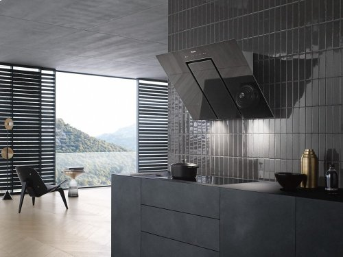 DA 6498 W Pure Wall ventilation hood with energy-efficient LED lighting and touch controls for simple operation.