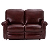 Grant Leather Power Reclining Loveseat in Deep Merlot Red Product Image