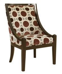 """Mulberry & Grey High Back Accent Chair, 20-1/2"""" Seat Height"""