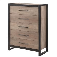 Edgewater Industrial Weathered Oak Chest