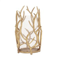 Gold Branches Hurricane Candle Holder, Small Product Image