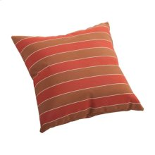 Joey Small Outdoor Pillow Brown And Clay Wide Stripe