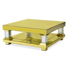Rectangular Cocktail Table W/gold Mirror