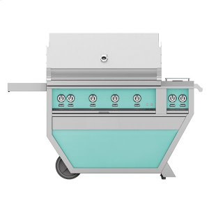 "Hestan42"" Hestan Outdoor Deluxe Grill with Double Side Burner - G_BR__CX_ Series - Bora-bora"