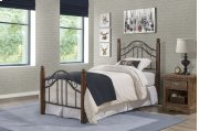 Madison Twin Bed Set With Rails Product Image