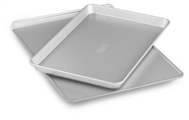 "Nonstick 10""x15"" Jelly Roll Pan and 13""x18"" Cookie Sheet Set - Other"