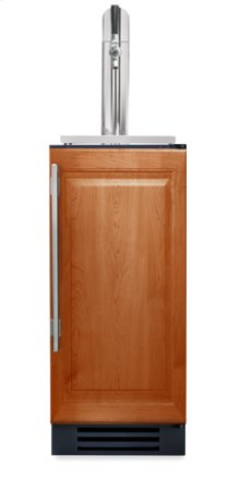15 Inch Overlay Solid Door Beverage Dispenser - Left Hinge Overlay Solid