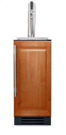 15 Inch Overlay Solid Door Beverage Dispenser - Left Hinge Overlay Solid