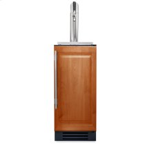 15 Inch Overlay Solid Door Beverage Dispenser - Right Hinge Overlay Solid