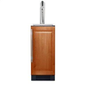 15 Inch Overlay Solid Door Beverage Dispenser - Right Hinge Overlay Solid