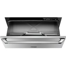 """Heritage 30"""" Epicure Warming Drawer, Silver Stainless Steel"""