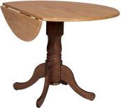 "42"" Complete Drop Leaf Table Cinnamon & Espresso"
