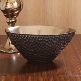 Chiseled Blonde/Bronze Oval Bowl