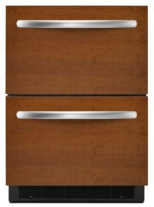 "Double-Drawer Refrigerator  5.1 cu. ft.  24"" Width  Architect® Series II  Requires Custom Panels and Handles"
