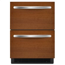 """Double-Drawer Refrigerator  5.1 cu. ft.  24"""" Width  Architect® Series II  Requires Custom Panels and Handles"""