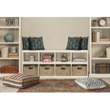 Tuscan Retreat® Storage Cube With Baskets - Country White