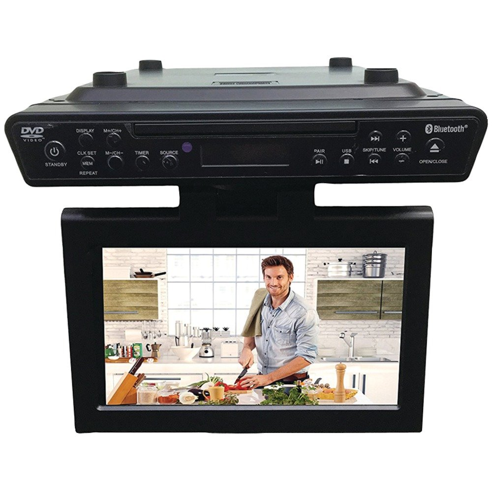 """10.2"""" Under-Counter Bluetooth(R) Kitchen TV with Built-in DVD Player & HDMI(R)"""