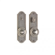 """Arched Privacy Set - 2 1/2"""" x 9"""" White Bronze Light"""
