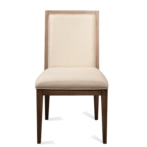 Mirabelle - Cane Upholstered Side Chair - Ecru Finish