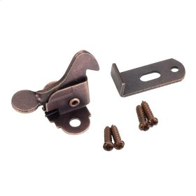 Dark Brushed Antique Copper Elbow Catch Polybagged with Screws