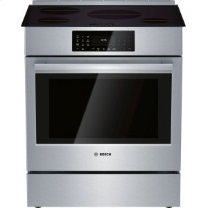 Bosch800 Series Induction Slide-in Range 30'' Stainless steel