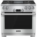 MieleHR 1136 G 36 inch range All Gas with DirectSelect, Twin convection fans and M Pro dual stacked burners