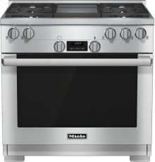 HR 1136 LP 36 inch range All Gas with DirectSelect, Twin convection fans and M Pro dual stacked burners