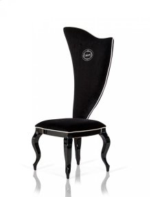 A&X Sovereign - Transitional Black Fabric Chair (Set of 2)