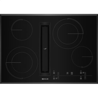 "30"" JX3(TM) Electric Downdraft Cooktop with Glass-Touch Electronic Controls, Black"