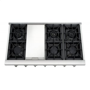 """Thor48"""" Professional Gas Rangetop In Stainless Steel"""