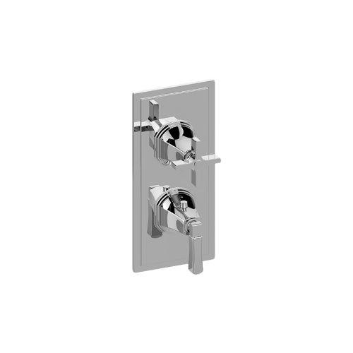 Finezza UNO Thermostatic 2-Hole Trim Plate and Handle