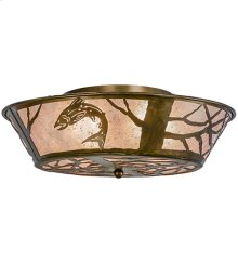 """22"""" Wide Leaping Trout Flushmount"""