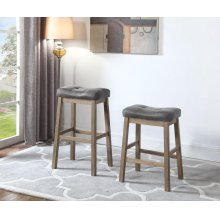 Rustic Driftwood Backless Counter-height Stool