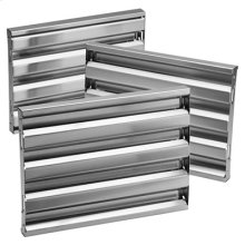 "Optional Baffle Filter Kit for 33"" Pro-Style Insert, in Stainless Steel"