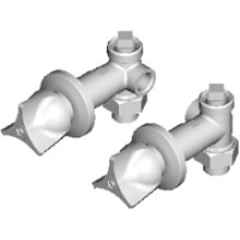 Hot and Cold Water Concealed Angle Bypass Valve