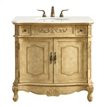 36 in. Single Bathroom Vanity set in Antique Beige