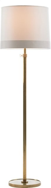Visual Comfort BBL1023SB-S2 Barbara Barry Simple 63 inch 150 watt Soft Brass Decorative Floor Lamp Portable Light in Silk