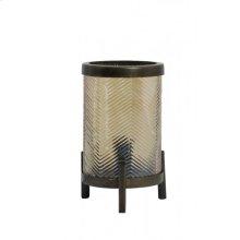 Table lamp 13,5x21,5 cm TJIBE glass gold luster+antiq bronz