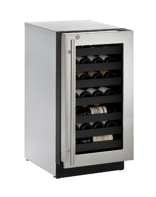 """Modular 3000 Series 18"""" Wine Captain® Model With Stainless Frame (lock) Finish and Right-hand Hinged Door Swing"""