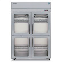 Refrigerator, Two Section Upright, Half Glass Door
